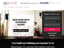 TJX Style+ Rewards Show official website