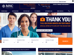 MSC Cruises Voyagers Club Rewards Show official website