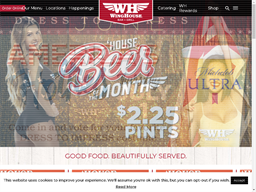 The WingHouse Bar & Grill WH Rewards Rewards Show official website